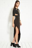 Forever 21 FOREVER 21+ Nightwalker Asymmetrical Cutout Dress