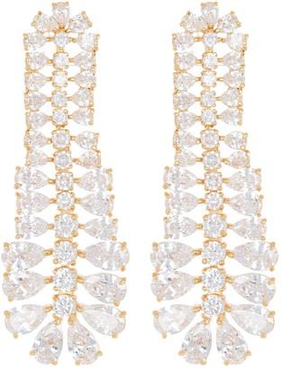 Vince Camuto CZ Teardrop Ladder Earrings