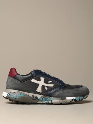 Premiata Zac-zac Sneakers In Leather And Micro Mesh