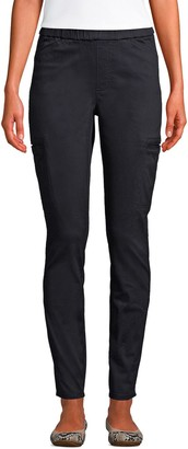 Lands' End Women's Sateen Straight-Leg Cargo Ankle Pants