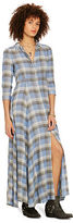 Denim & Supply Ralph Lauren Plaid Cotton Maxidress