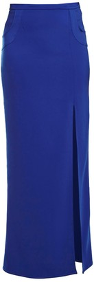 Philosofée By Glaucia Stanganelli Blue Tailored Maxi Skirt