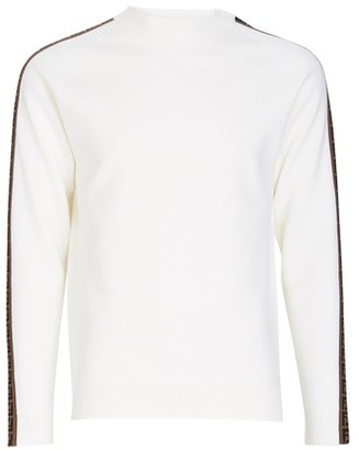 Fendi Crew Knit With Ff On The Sleeves