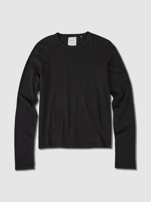 Jason Scott L/S Shrunken Crew Lightweight Jersey - Black
