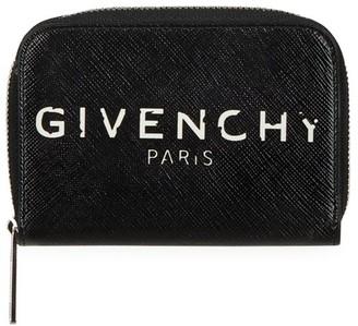 Givenchy Mini Logo Zip Card Case