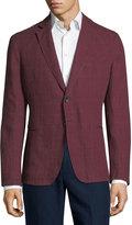 Armani Collezioni Windowpane Check Soft Jacket