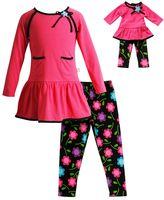 Dollie & Me Girls 4-14 Cupcake Ruffle Dress & Floral Leggings Set
