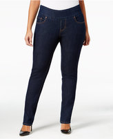 Jag Plus Size Malia Pull-On Slim-Leg Jeans