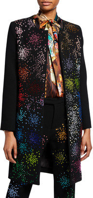 Libertine Mo' Monet Mo' Problems Bead-Embellished Duster Coat