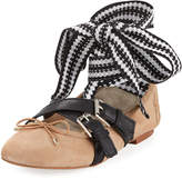 Sam Edelman Fianna Buckle Ballerina Flat, Light Brown