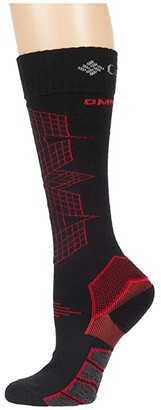 Columbia Omni-Heat Ski - Optical Grid 1-Pack (Azure) Crew Cut Socks Shoes