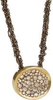 Antonini 18K Yellow Gold Matte Matera Cognac Diamond Pendant Necklace, 16