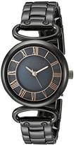 Anne Klein Women's AK/2123GMRT Gunmetal Bracelet Watch