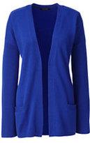Classic Women's Cashmere Rib Cardigan Sweater-Cobalt