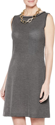 Misook Mini Tweed Sleeveless Sheath Dress