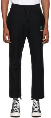 Wacko Maria Black High Times Edition Heavyweight Lounge Pants