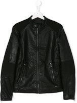 Diesel ribbed panel jacket - kids - Polyester/Polyurethane/Spandex/Elastane/Viscose - 14 yrs