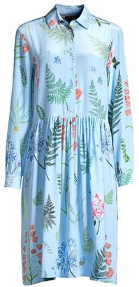 Max Mara Acerbi Floral Silk Shirtdress