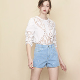 Maje Denim shorts with diamanté