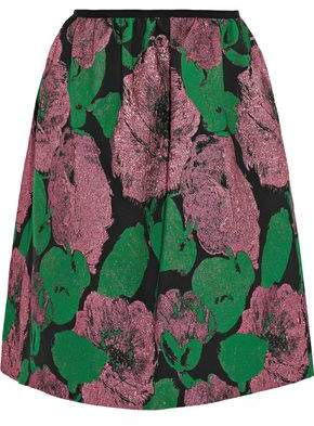 Erdem Loren Rose Metallic Jacquard Mini Skirt