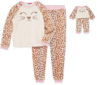 Asstd National Brand Girls 4-pc. Pant Pajama Set Preschool