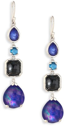 Ippolita Rock Candy Sterling Silver & Multi-Stone 4-Drop Earrings