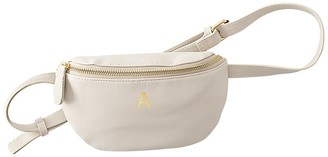 Cathy's Concepts Beige Personalized Vegan Leather Belt Bag - MULTIPLE LETTERS AVAILABLE