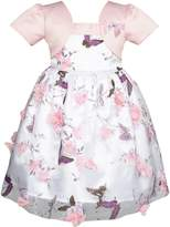 Sunny Fashion JH14 2-in-1 Flower Girls Dress Dimensional Butterfly Pageant Party