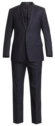 Emporio Armani Wool & Silk Two-Piece Suit