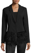 philosophy Feather-Hem Jacket, Black