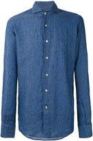 Lardini classic shirt - men - Linen/Flax - 38