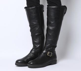 Office Keller Casual Fur Knee Boots Black Leather