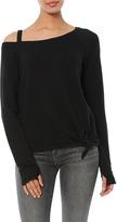 Generation Love Drexler Tie Front Off Shoulder Sweatshirt