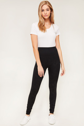 Ardene Embossed Fleece-Lined Leggings