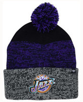 '47 Utah Jazz Black Static Pom Knit Hat