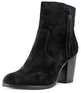 Frye Myra Tassel Lace Women Round Toe Leather Black Bootie.
