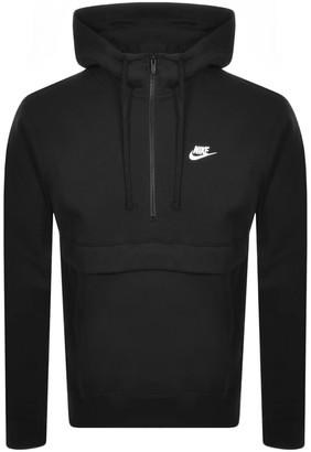 Nike Half Zip Club Hoodie Black