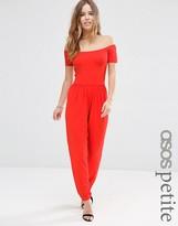 Asos Bardot Jersey Jumpsuit with Peg Leg