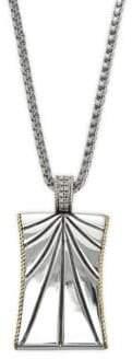 Effy Men's Sterling Silver & Diamond Pendant Necklace