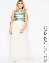Club L Plus Maxi Dress With Sequin Top