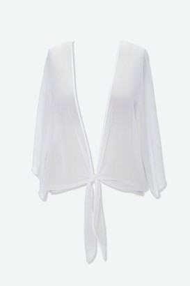 Forever 21 Plus Size Chiffon Tie-Front Top