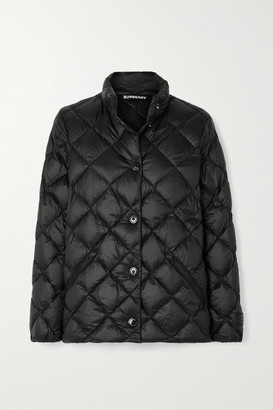 Burberry Quilted Shell Down Jacket - Black
