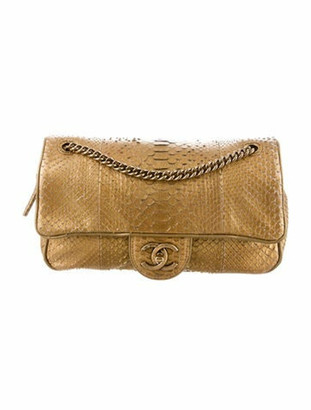 Chanel Python Shiva Flap Bag Metallic