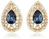 Alvdis One Pair Water Drop Style Swarovski Crystal Fashion Ear Ring Earrings, Blue