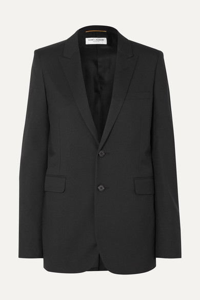 Saint Laurent Wool-gabardine Blazer - Black