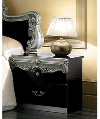 Astoria Grand Straitson 2 Drawer Nightstand Astoria Grand Color: Black/Silver