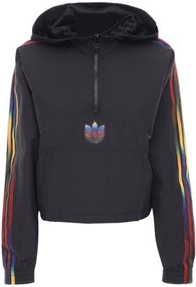 adidas Tech Crop Half-zip Sweatshirt Hoodie