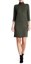 Bobeau 3/4 Sleeve Turtleneck Dress