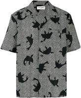 Saint Laurent fish print shirt