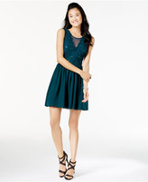 Speechless Juniors' Sequined Lace Chiffon Dress, A Macy's Exclusive